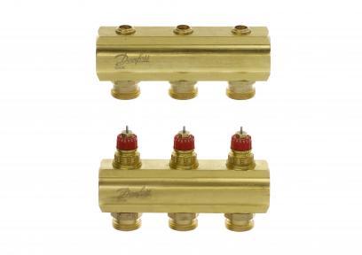 Распределительный коллектор для системы напольного отопления FHF 3 + 3 без ротаметров