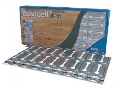 Монтажные пластины с теплоизолятором для «сухой» установки нагревательного кабеля под паркетную доску DEVI DEVIcell Dry