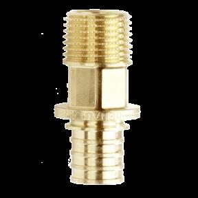 Соединитель REHAU RAUTITAN LX 50-R1 1/2 с наружной резьбой 168111001 Латунь