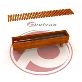 Напольный декоративный конвектор Polvax в дубовом корпусе с 1-м теплообменником 3/4 КE.F.180.2000.250