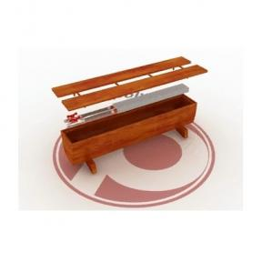 Напольный декоративный конвектор Polvax в дубовой скамье с 1-м теплообменником 3/4 КЕ.S.290.1000.390